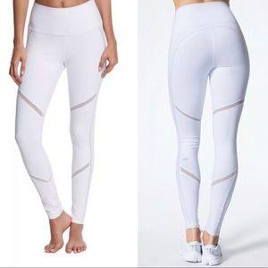 Alo White Mesh Continuity High Waist Yoga Pants